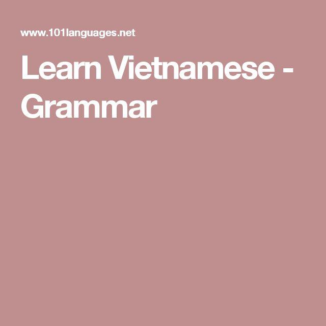 Learn Vietnamese - Grammar