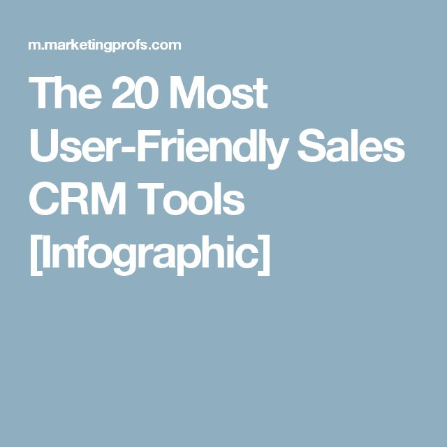 The 20 Most User-Friendly Sales CRM Tools [Infographic]