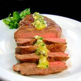 One Perfect Bite: London Broil with Ravigote Sauce