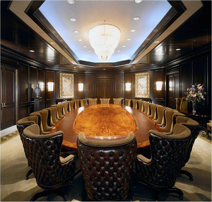 All we can say is WOW. What a luxurious business office! It's perfect for meetings, too. #luxury #businessoffice