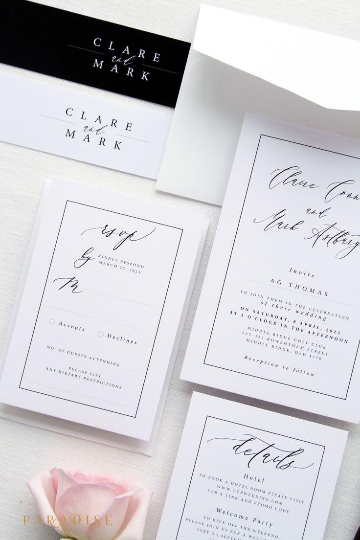 326 best Wedding Invitations images on Pinterest | Blue wedding ...