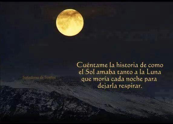 El sol y la luna. | Lindas frases ♡ | Pinterest | La Luna, Amor ...