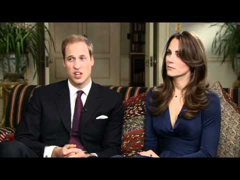 Prince William and Kate Middleton - Full interview. Charming interview with Kate and William. He is obviously more comfortable with the media, and talks about Kate all the time.