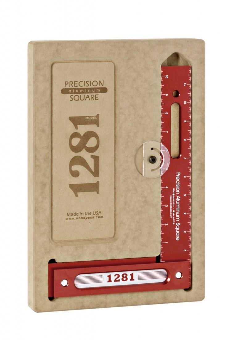 """Product Description Woodpecker's 1281 12"""" Precision Woodworking Square (1281R) Precision aluminum woodworking square by Woodpeckers, a must have for any woodworker where precision and quality counts!"""