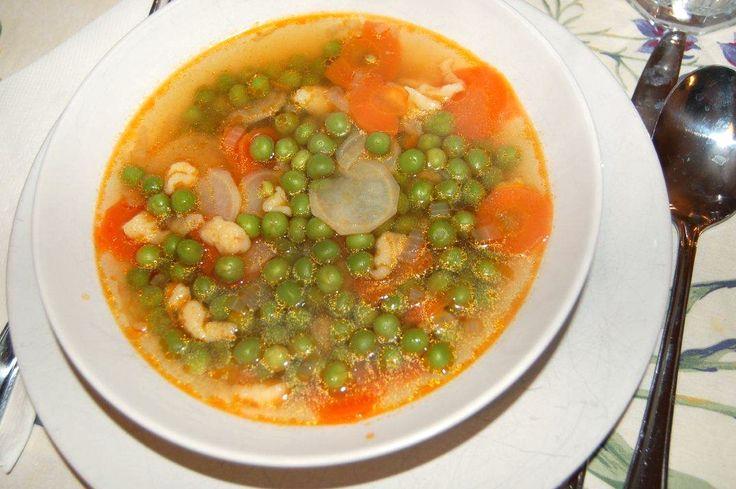 Zöldborsó leves recept