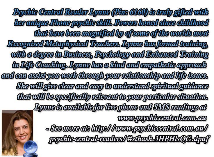 Psychic Central Reader Lynne (Pin: 6160) http://www.psychiccentral.com.au/psychic-central-readers/#sthash.3HPHlsQG.dpuf