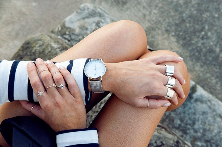 THE NEW SPORTS LUXE- by TheyAllHateUs Elle Ferguson wears the Witchery Mesh Watch