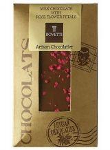 Bovetti 25g. Ciocolata cu lapte si petale de trandafir