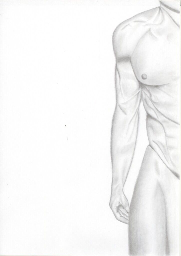 Male body  Pencil drawing