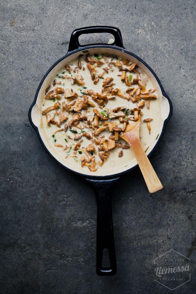 kantarellikastike resepti #kantarelli #sieni #kastike