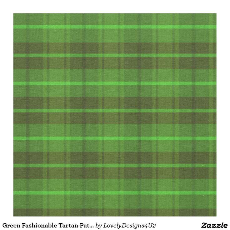 Green Fashionable Tartan Pattern Fabric