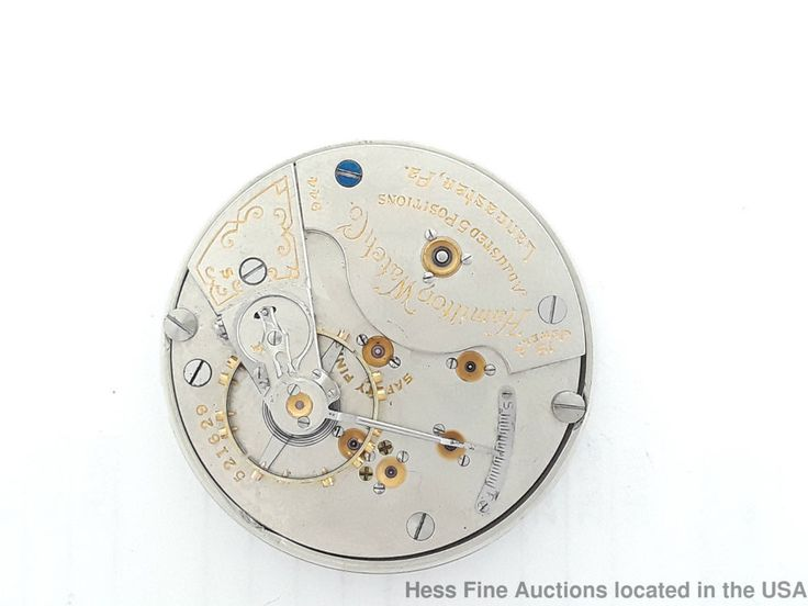 Hamilton 944 19J Movement Montgomery Dial Railroad Pocket Watch Movement	 #Hamilton