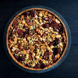 caramelized honey nut and seed tart