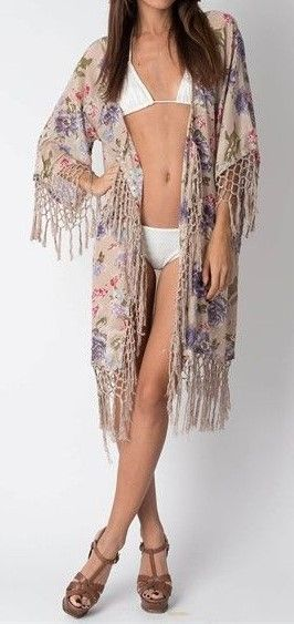 Floral Kimino with Tassels  $59  onesize  (rrp $150)