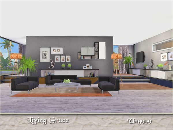 35 best sims 4 living room sets images on pinterest for Modern living room sims 4