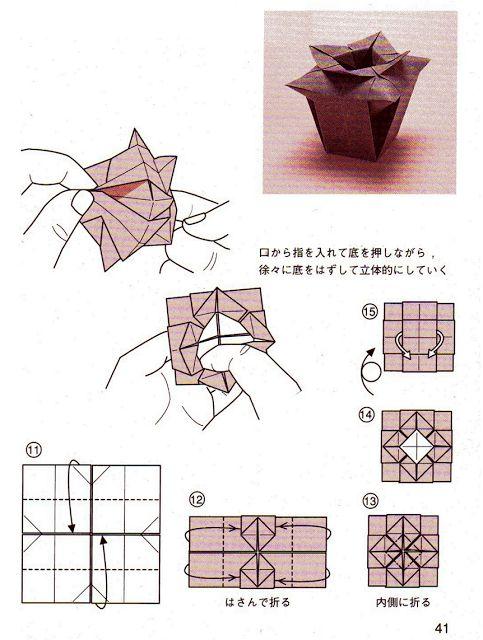 tutorial origami vase