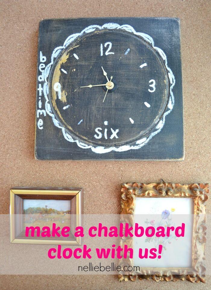 Chalkboard clock from NellieBellie 196 best DIY