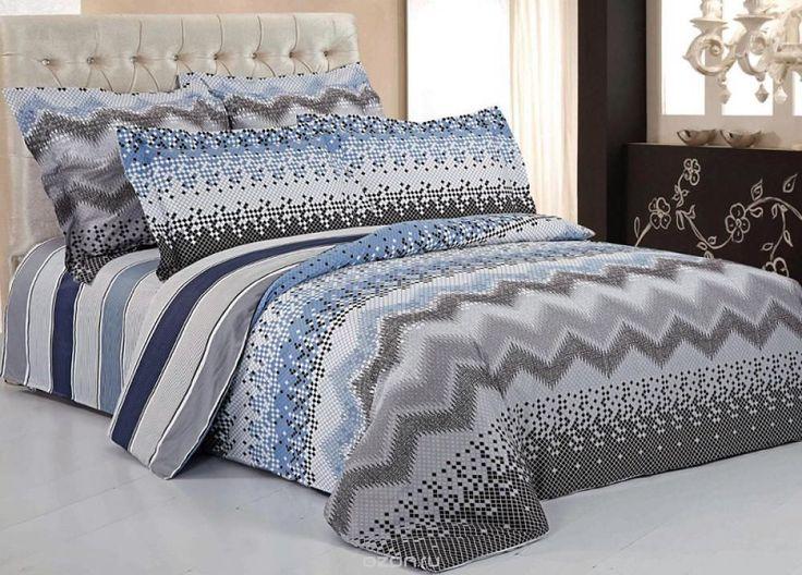 Комплект белья 9862 (1,5-спальный КПБ, сатин, наволочки 70x70)