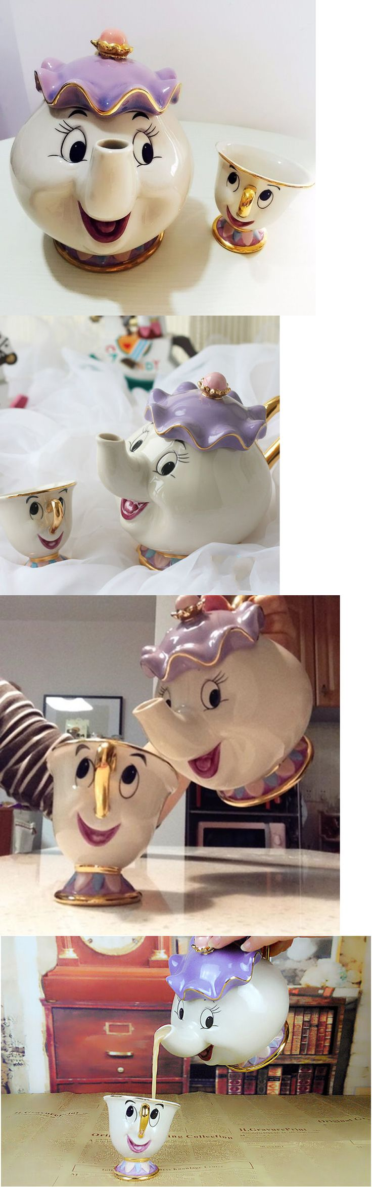 Beauty and the Beast 44033: Cartoon Beauty And The Beast Teapot Mug Mrs Potts Chip Tea Pot Cup Set Xmas Gift -> BUY IT NOW ONLY: $49.99 on eBay!