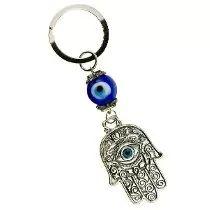M1082 Llavero Amuleto De Hamsa Mano De Fatima Con Ojo Turco