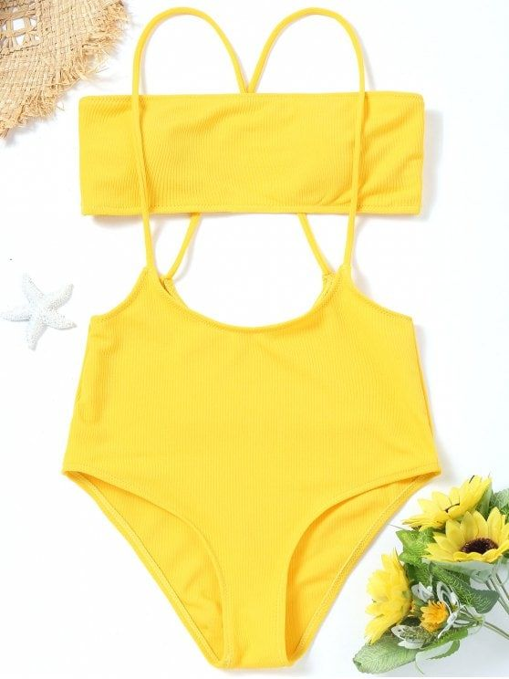 fb47b0308c8 Up to 80% OFF! Bandeau Top And High Waisted Slip Bikini Bottoms. #Zaful #swimwear  Zaful, zaful bikinis, zaful dress, zaful swimwear, style, outfits,sweater,  ...