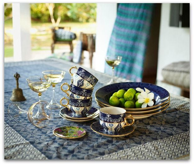 Outdoor entertaining + Indian influence + A collaboration between the Scandinavian store, Indiska, and designer Jade Jagger.