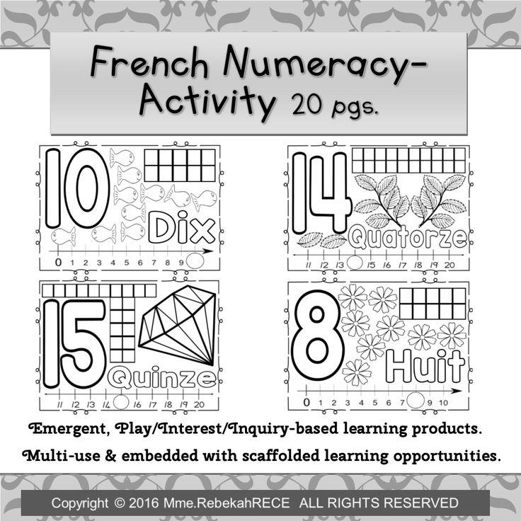 Worksheets For Kindergarten In French