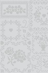 PiP Cross Stitch Grijs behang | Traditional | Behang | PiP Studio