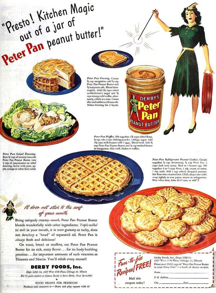 "Peter Pan Peanut Butter Recipes from ""The Ladies' Home Journal"" 