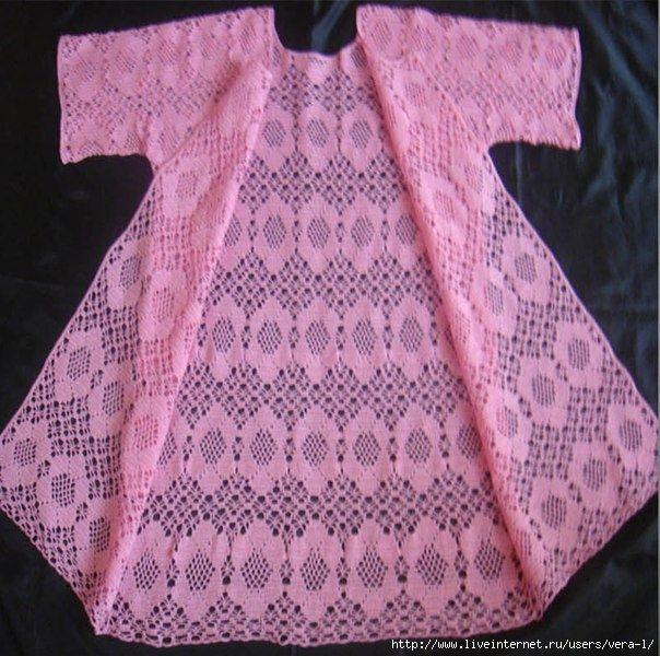 Кардиган (филейное вязание)