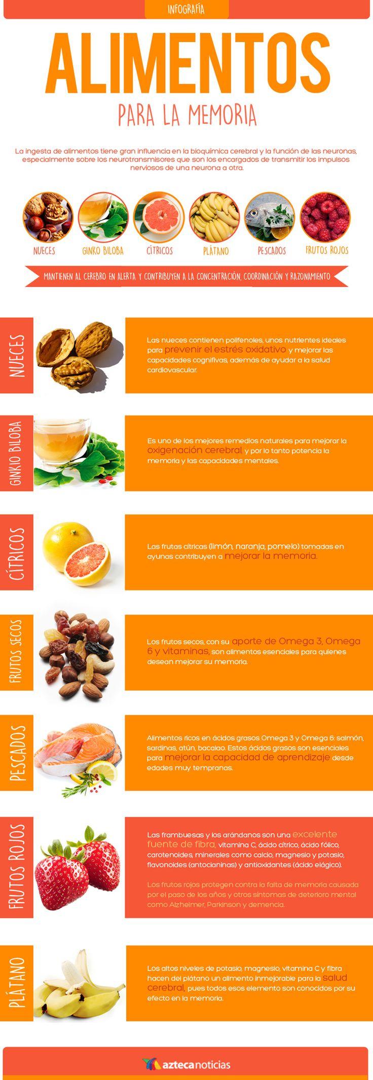 Alimentos para la memoria #infografia