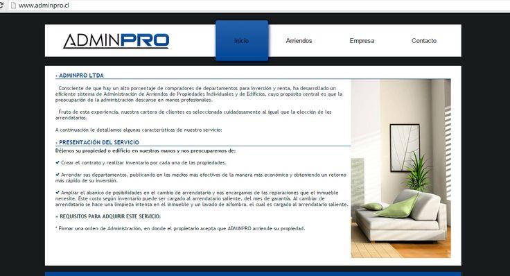 Sitio Web Adminpro
