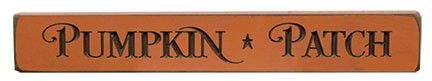 Pumpkin Patch Stars Engraved Distressed Orange Wood Plaque Sign Country Primitive Fall Decor