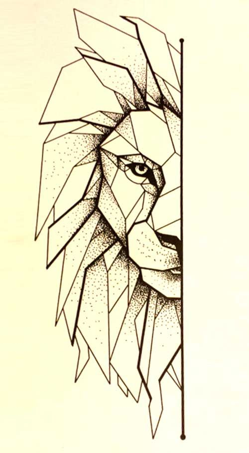 1000 Ideas About Geometric Lion Tattoo On Pinterest