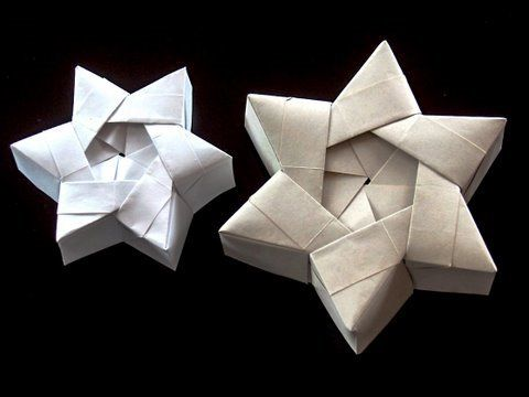 Make a star gift box (video)