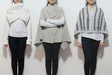 Vote for your favourite design upcycled from a chunky knit cardigan!