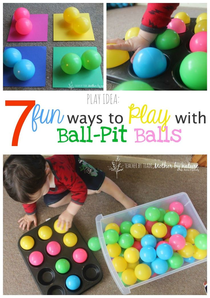 PLAY IDEA: 7 Fun Ways to Play With Ball-Pit Balls                                                                                                                                                                                 More