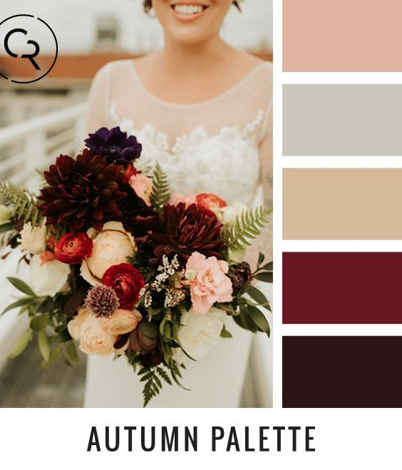 Autumn Wedding Palette #feministwedding #weddingplanning