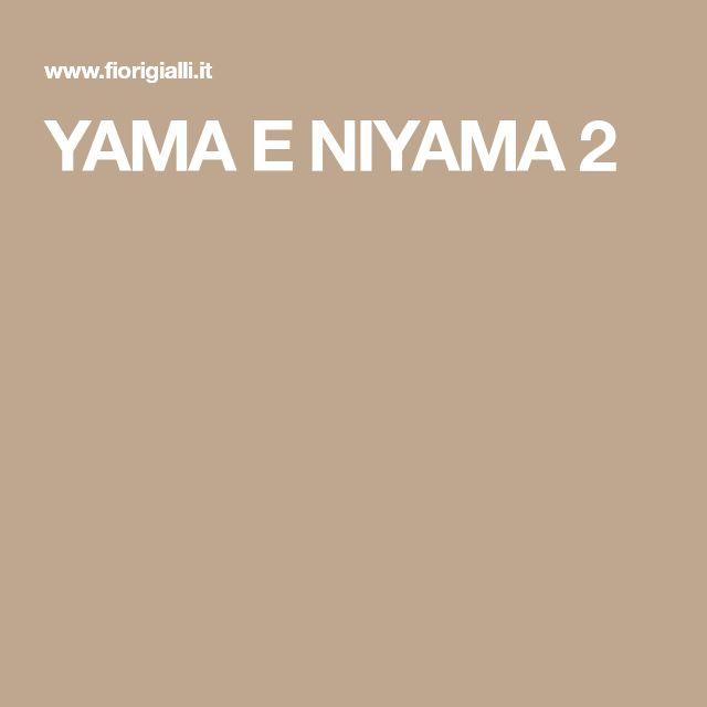 YAMA E NIYAMA 2