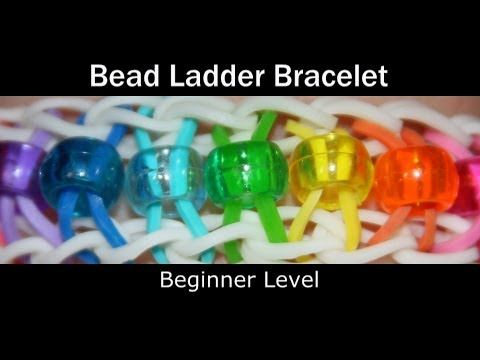 Rainbow Loom® BEAD LADDER Bracelet by Suzanne Peterson. This is NOT the Ladder Bracelet. - YouTube