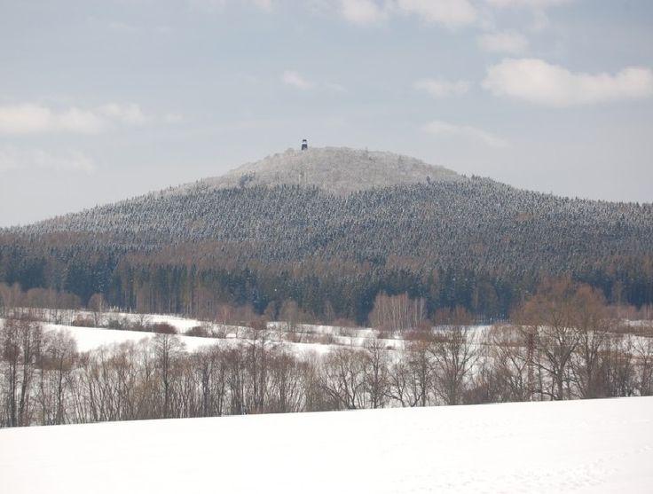 Legendary hill Blaník in winter, Central Bohemia, Czechia