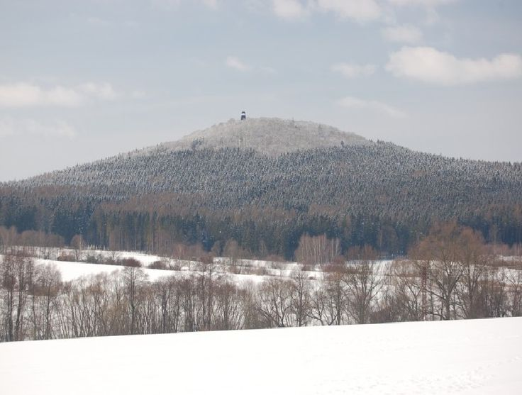 Legendary hill Blaník in winter, Central Bohemia, Czechia