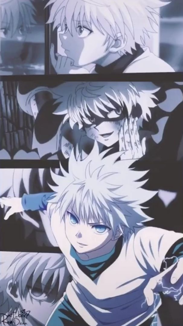 blue anime aesthetic killua