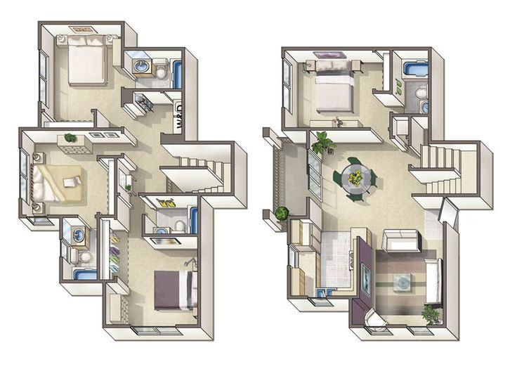 17 best images about floor plans on pinterest arrow for 4 bedroom townhouse floor plans