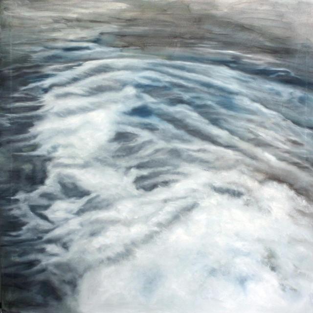 Ramón Serrano, Good bye, 2011, oil on canvas, 76x76in  © Courtesy Corkin Gallery #travel #ocean