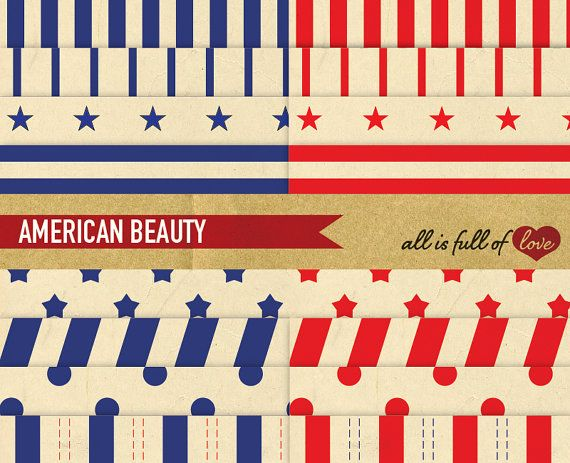 JULY 4 Scrapbooking Background Digital INDEPENDENCE DAY