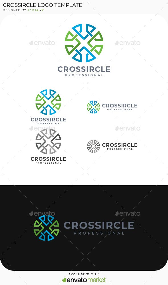 Cross Circle Logo Template Vector EPS, AI Illustrator Logo
