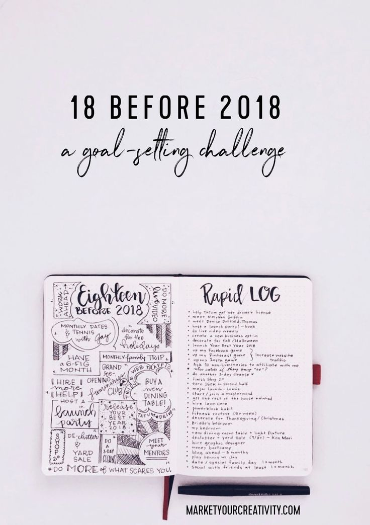 It's that time again! Today I'm listing 18 goals I want to complete before 2018, and I'm challenging YOU to play along.