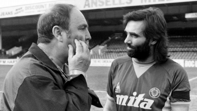 George Best turns out in a Villa Shirt with Jimmy Greaves