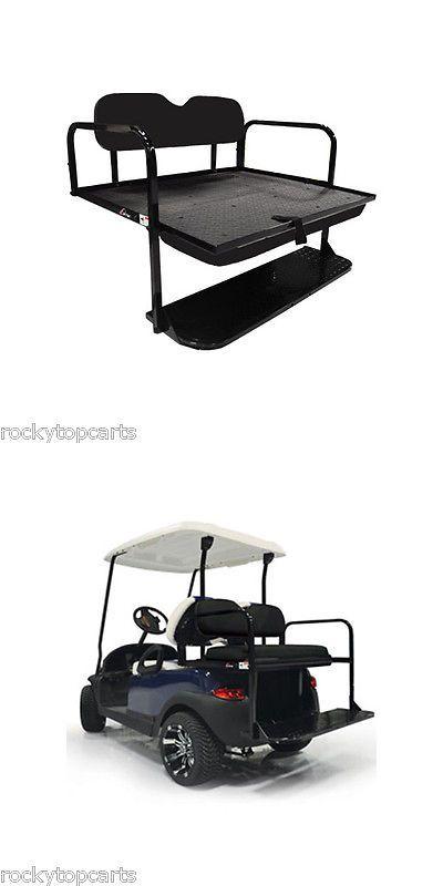 Push-Pull Golf Cart Add-ons 72671: Gtw Mach-1 Steel Yamaha Golf Cart Black Rear Flip Seat Fits G29 Drive -> BUY IT NOW ONLY: $279.99 on eBay!
